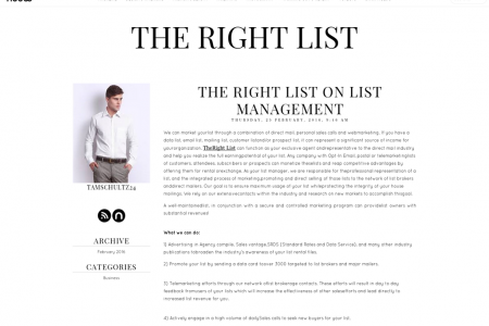 The Right List on List Management Infographic