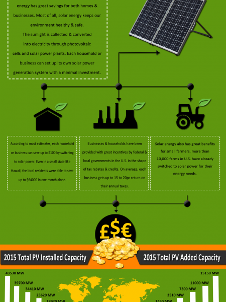 The Rise of Solar Panel Connections Worldwide Infographic