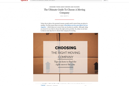 The Ultimate Guide To Choose A Moving Company Infographic