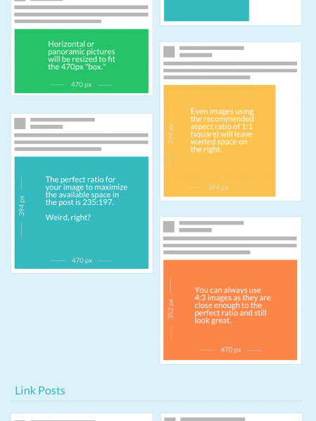 The Unofficial Guide to Facebook's New News Feed Image Sizes Infographic