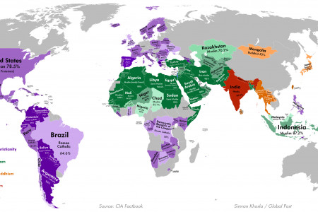 The World's Most Religious Places Infographic