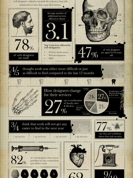 The anatomy of a web designer Infographic