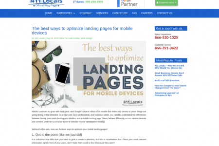 The best ways to optimize landing pages for mobile devices Infographic