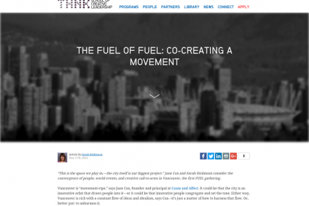 BLOG POST/ESSAY: Co-creating a movement Infographic