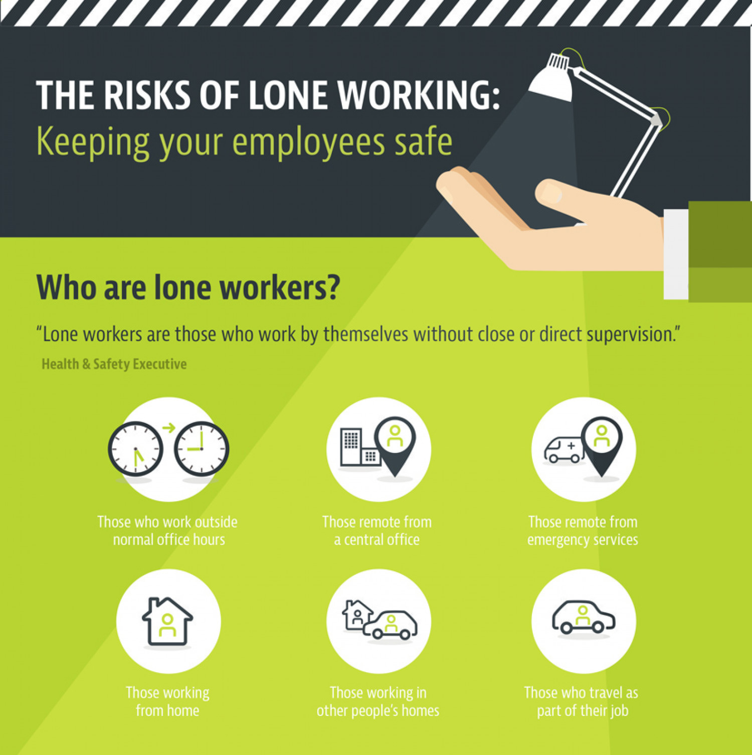The risks of lone working Infographic