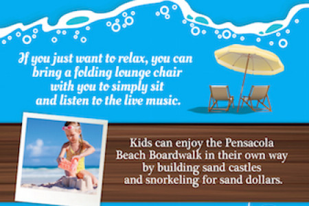 Things to Do at the Pensacola Beach Boardwalk Infographic