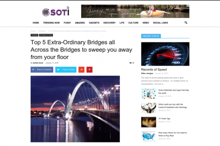 Top 5 Extra-Ordinary Bridges all Across the Bridges to sweep you away from your floor Infographic