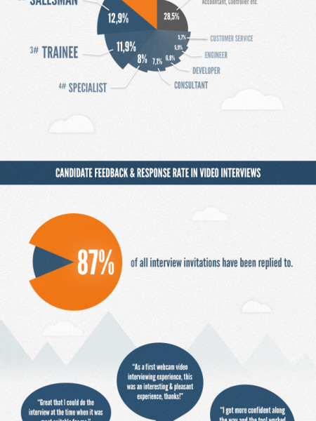 Top 8 - Video Interview Positions Infographic