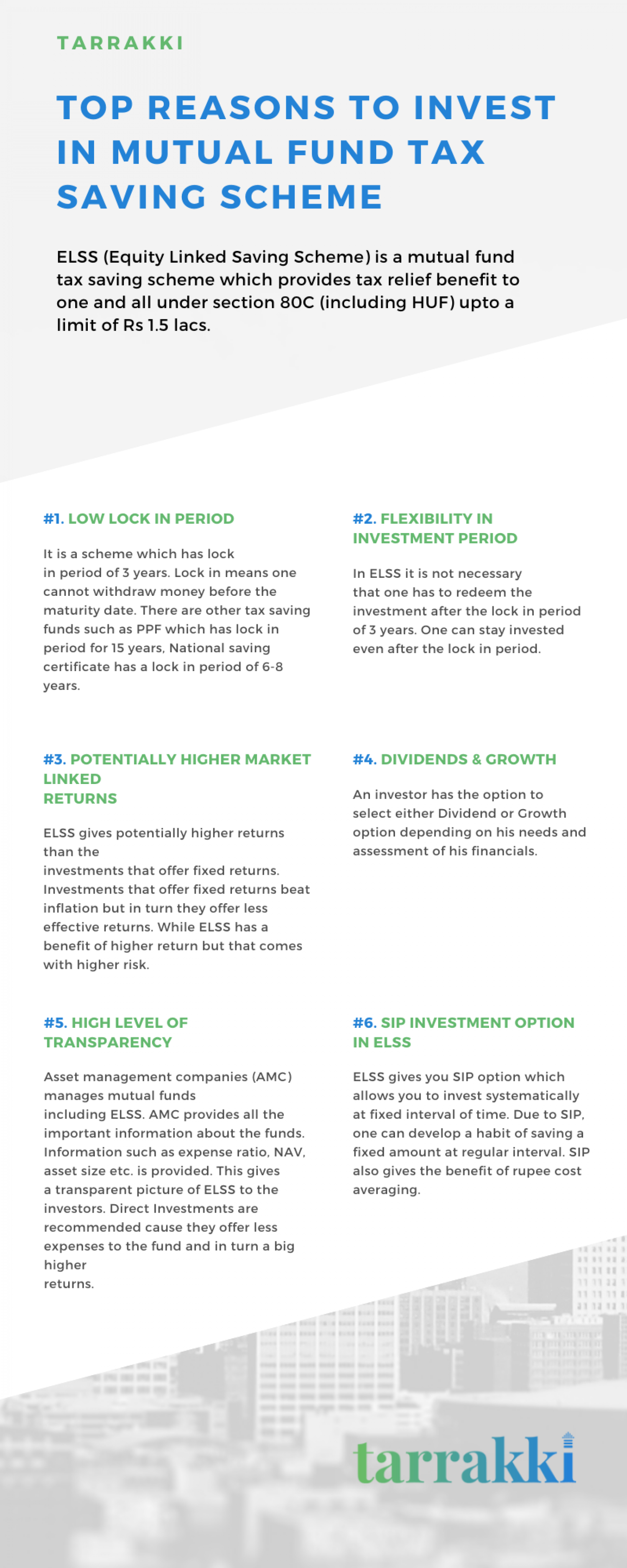 Top reasons to invest in Mutual fund tax saving scheme  Infographic