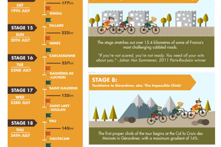Tour De France 2014: A Visual Companion Infographic