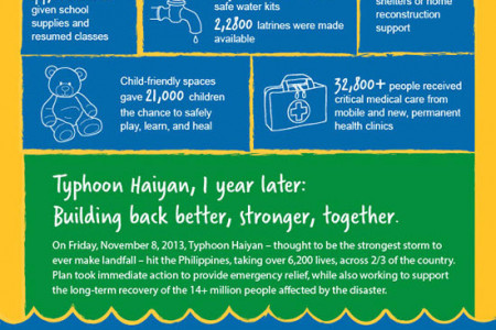 Typhoon Haiyan - 1 Year Later  Infographic