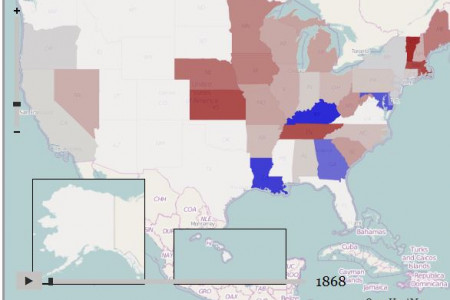 US Presidential elections 1868-2008 Infographic