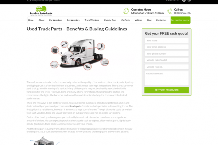 Used Parts For a Truck | Bamian Auto Parts Infographic