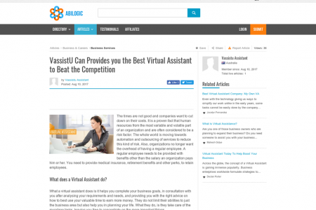 VassistU Can Provides you the Best Virtual Assistant to Beat the Competition Infographic