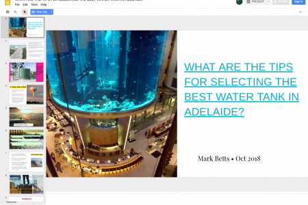 WHAT ARE THE TIPS FOR SELECTING THE BEST WATER TANK IN ADELAIDE? Infographic