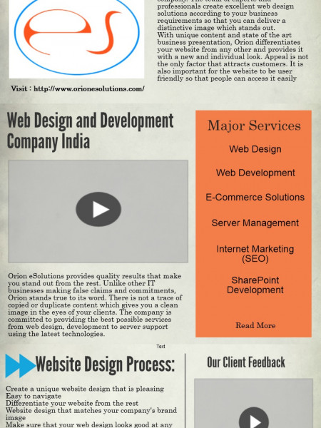 Web Design and Development Company Infographic