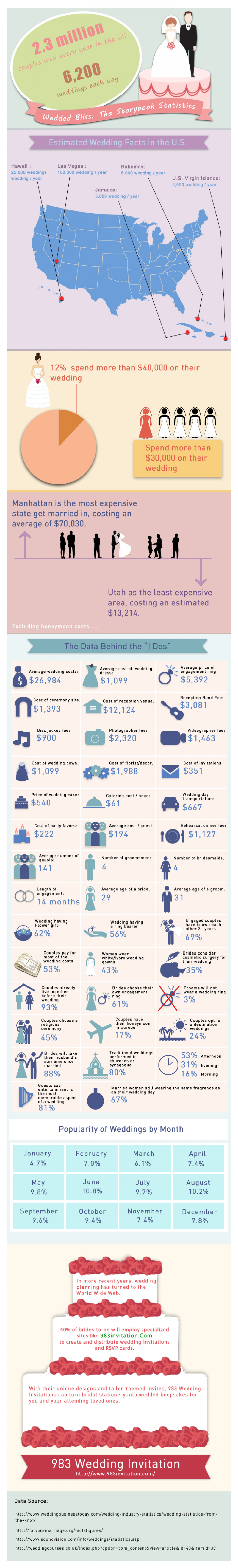 Wedded Bliss: The Storybook Statistics Infographic
