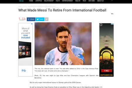 What Made Messi To Retire From International Football Infographic