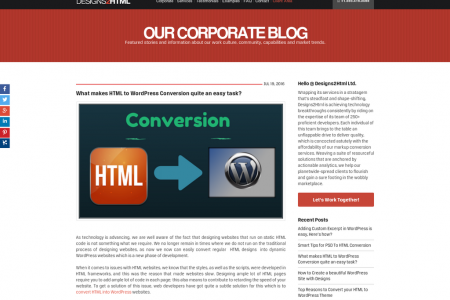 What makes HTML to WordPress Conversion quite an easy task? Infographic