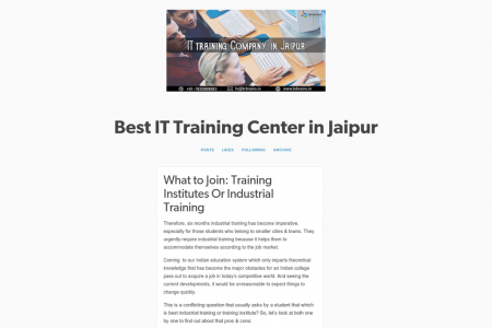 What to Join: Training Institutes Or Industrial Training Infographic