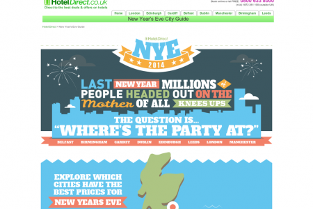 Where's The Party At New Year's Eve 2014 Infographic
