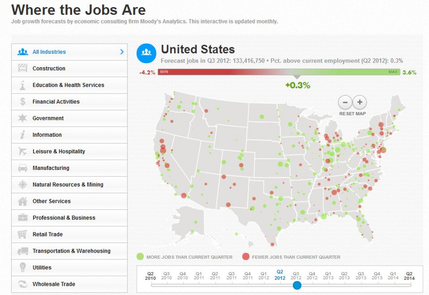 Where the Jobs Are in the U.S  Infographic