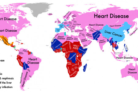World Diseases Map Infographic
