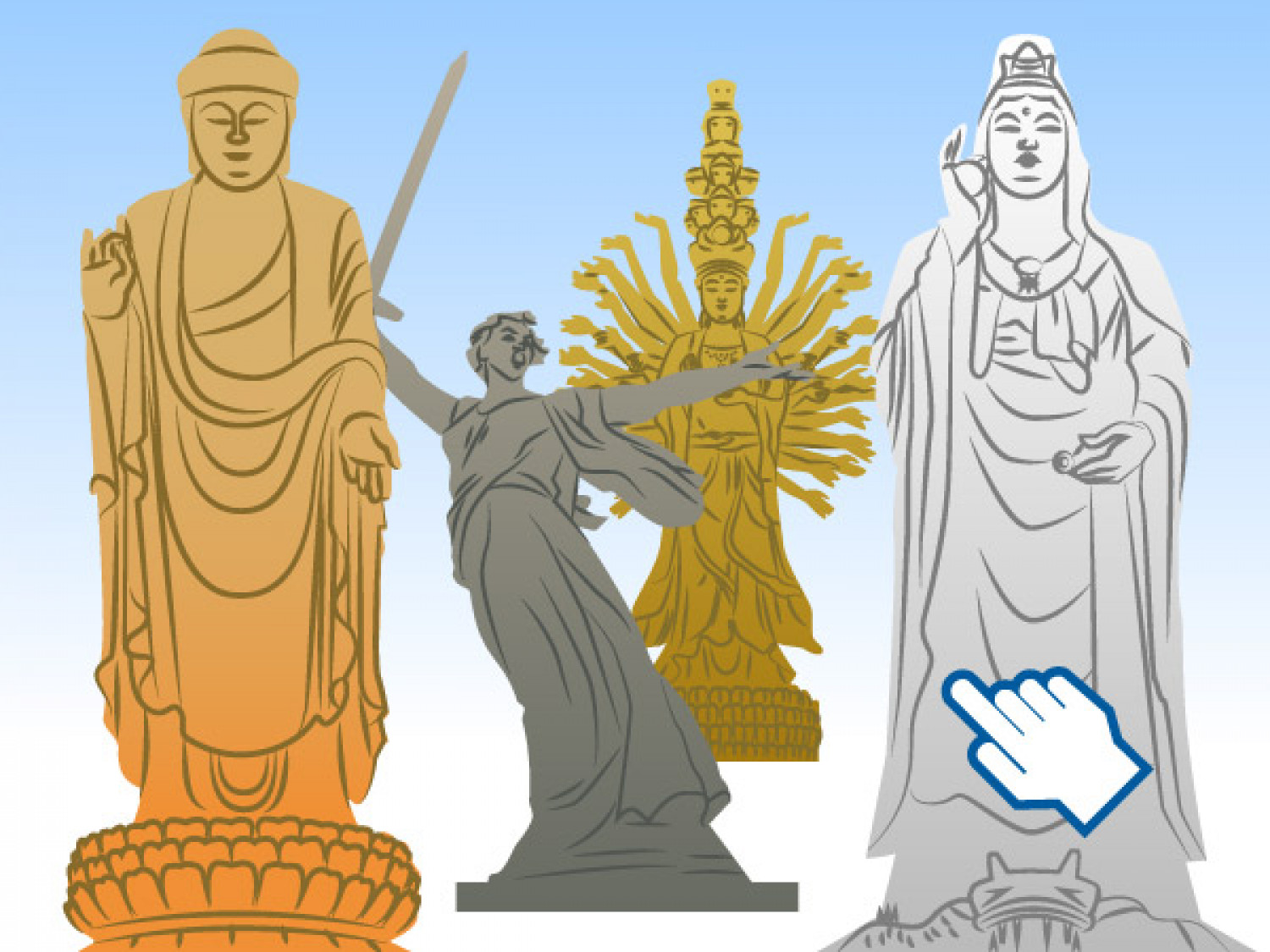 World's tallest statue Infographic