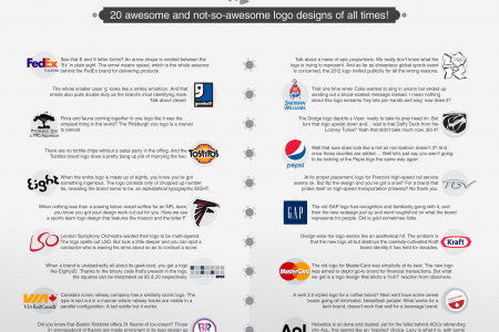 Wow-Sters vs Boo Inducing – 20 Awesome and Not-So-Awesome Logo Designs of all Times! Infographic
