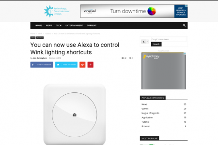You can now use Alexa to control Wink lighting shortcuts Infographic