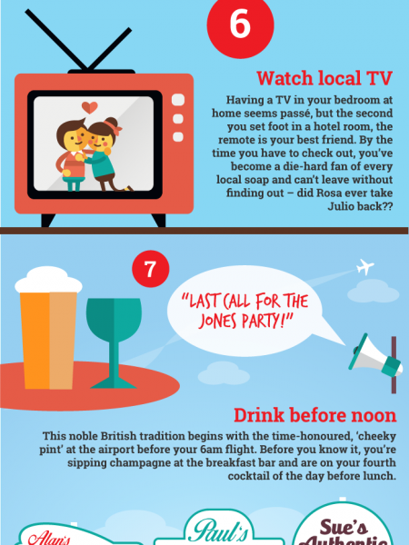 You know you're on holiday when.. Infographic