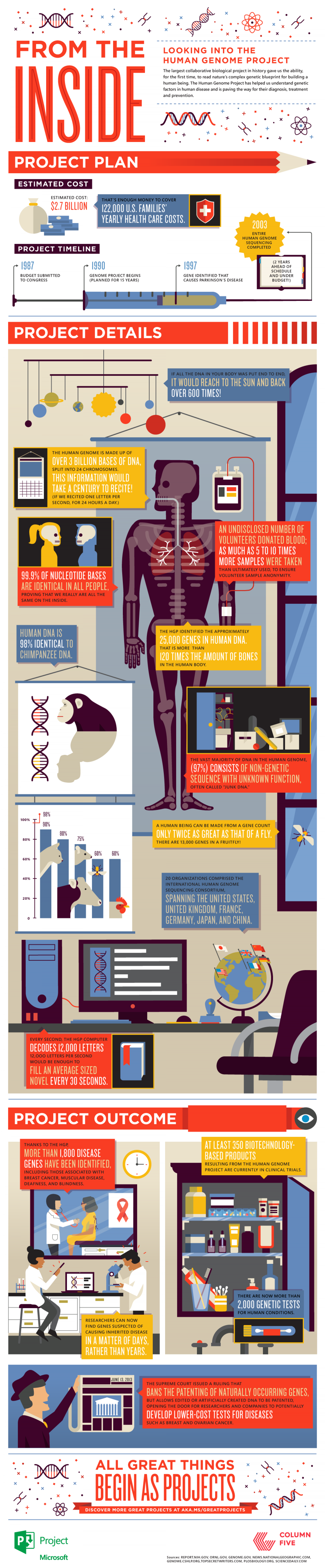 From The Inside Looking Into The Human Genome Project Infographic