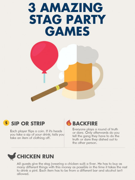 3 Amazing Stag Party Games Infographic