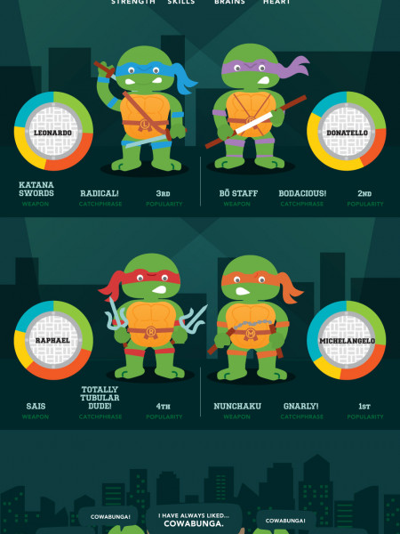 Cowabunga! A Breakdown of Tubular Turtle Stats Infographic