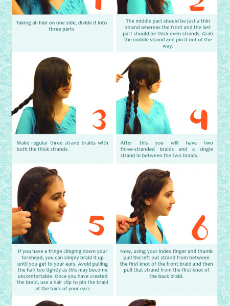 The Lace-Up Braid Infographic