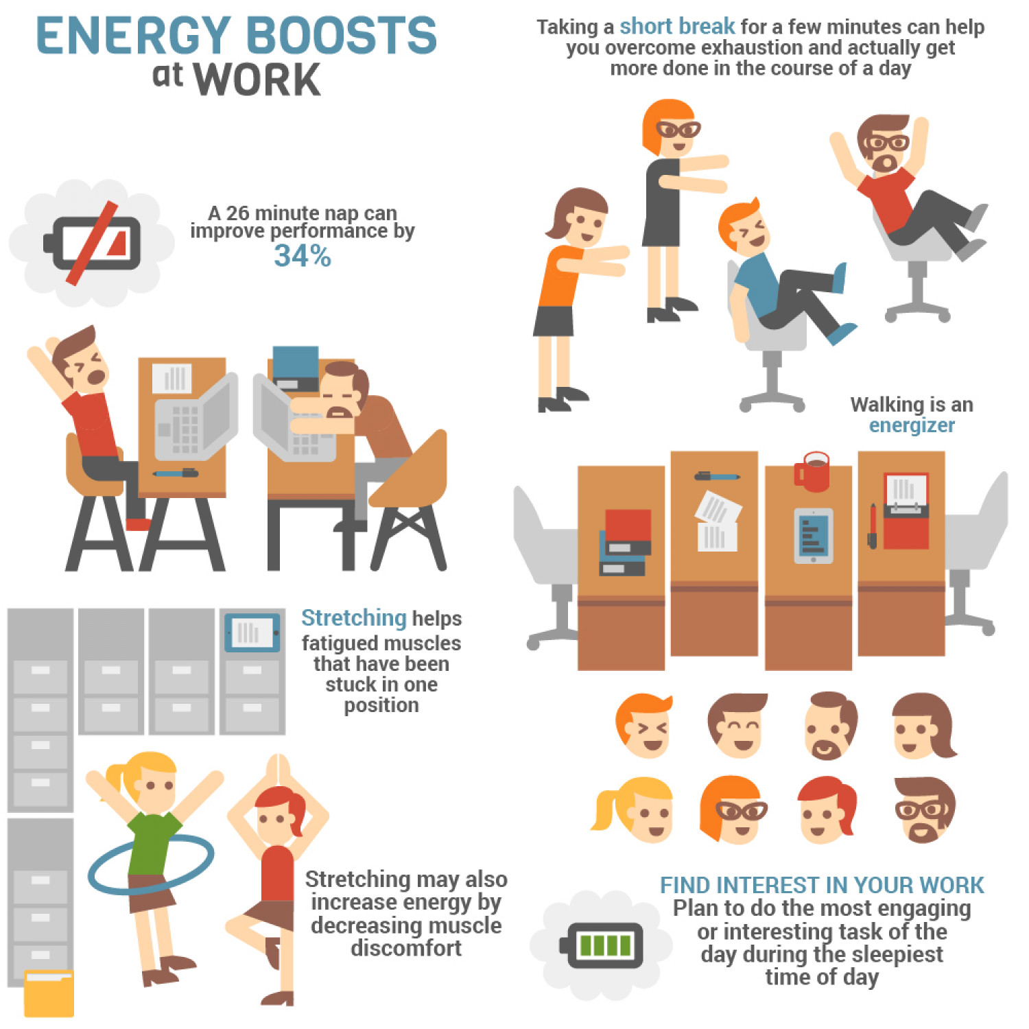 Energy Boosts at Work Infographic