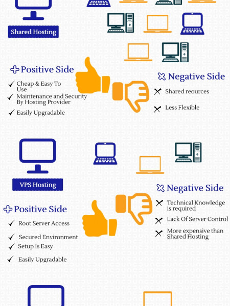 A Comparing View On Types Of Web Hosting Infographic
