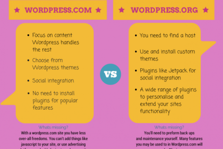 Wordpress.com vs Wordpress.org Infographic