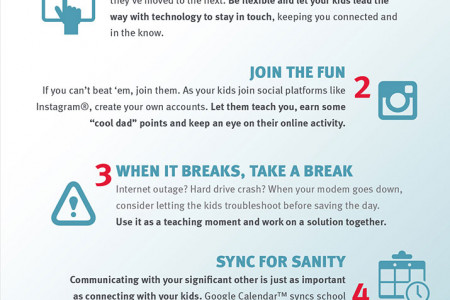 Wired Dads: 7 Tech Tips & Tricks for Dads Infographic