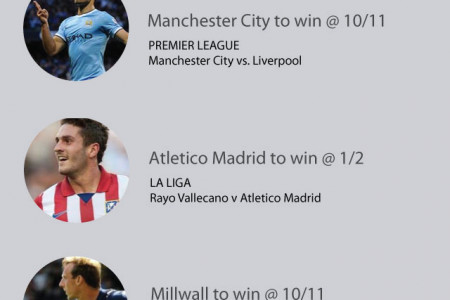 Top football betting tips this weekend 22.08.14 Infographic