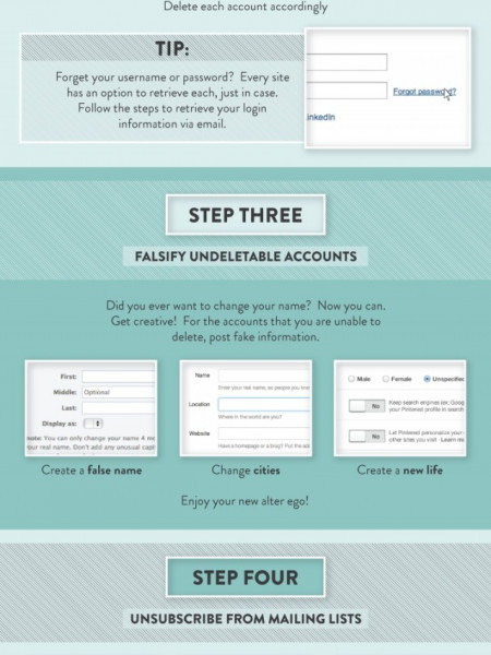 How to disappear online ? Infographic