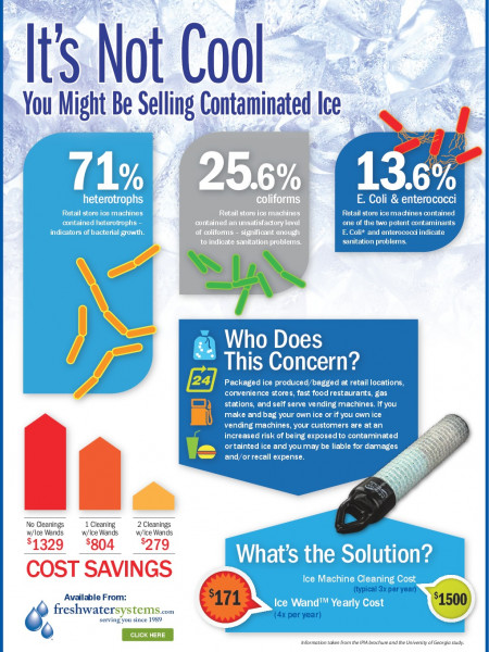 How an Ice Machine Water Filter can Prevent Packaged Ice Contamination Infographic