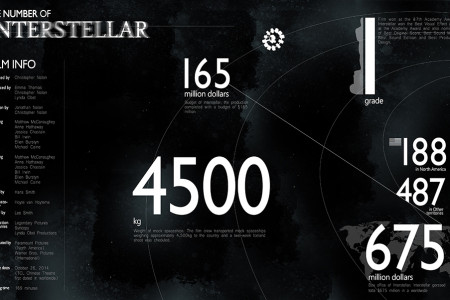 THE NUMBER OF INTERSTELLAR Infographic