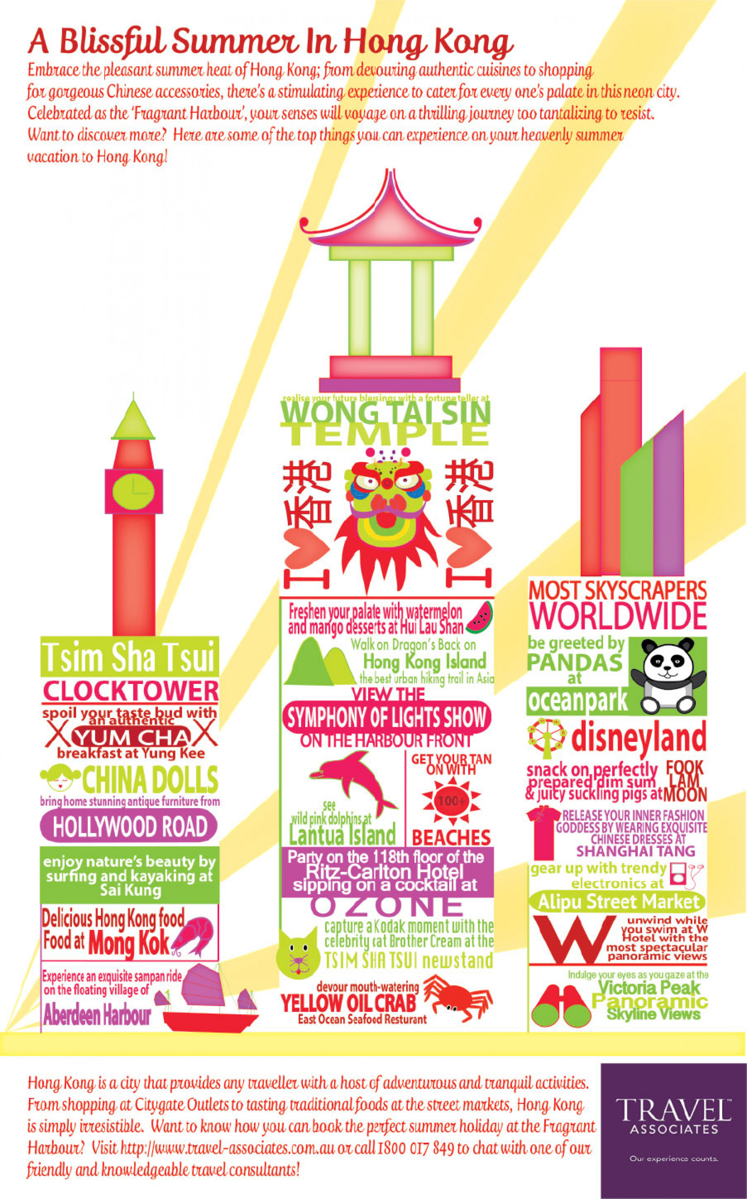 A Blissful Summer in Hong Kong Infographic