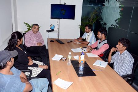 A brainstorming session of our development team. Infographic