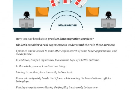 A DEFINITIVE GUIDE ON PRODUCT DATA MIGRATION SERVICES Infographic