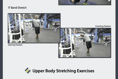 A Guide to 10 Basic Stretches Infographic