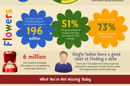A Guide to Being Joyfully Single on Valentine's Day Infographic