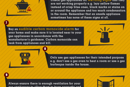 A Guide to Gas Safety in Your Home Infographic
