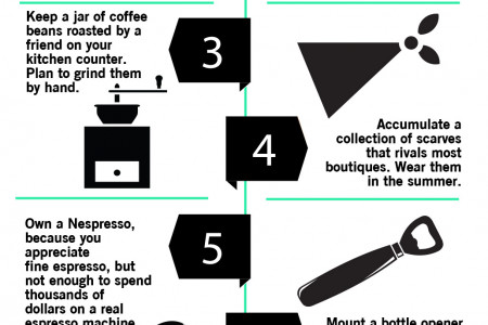 Eight Steps to Living Hipster-Lite Infographic